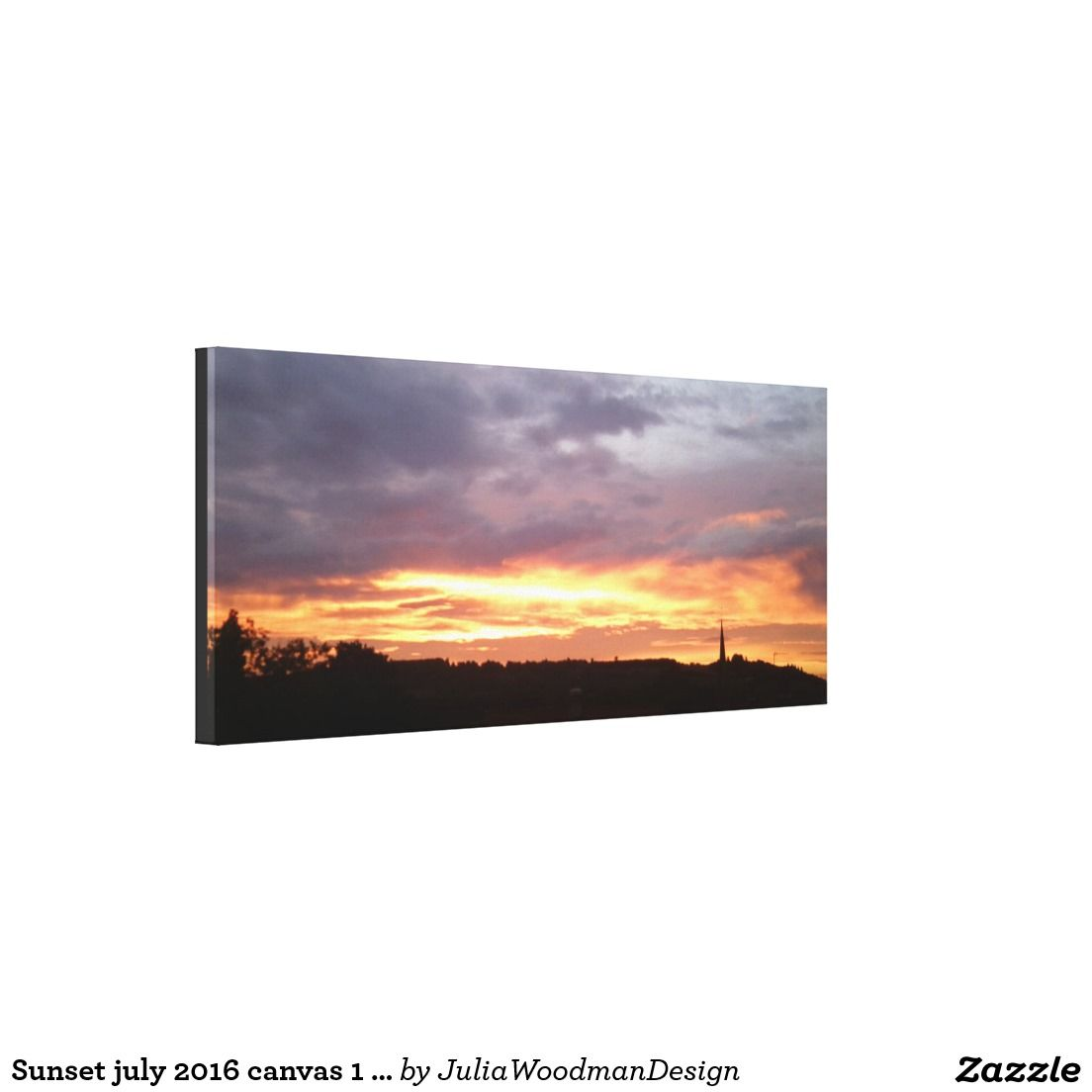 Sunset july 2016 canvas 1 Ranmore, Surrey, UK Stretched Canvas Prints