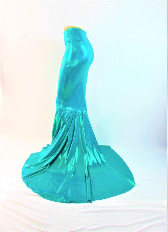 Meerjungfrau Rock funkelnden Jade Schweif von ZanzaDesignsClothing