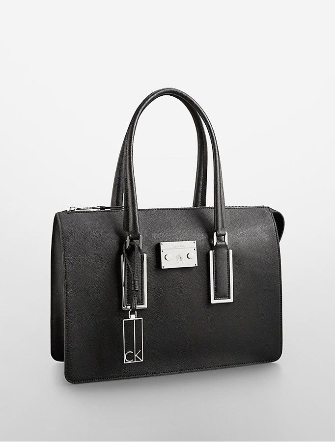 a8bfdb6b9d Calvin Klein Galey Saffiano Leather Satchel on shopstyle.com ...