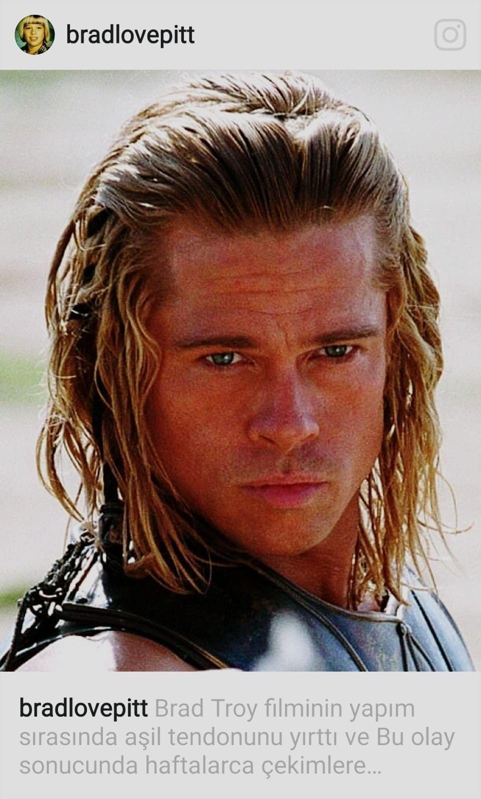 "troy""-achilles,half god half human. | brad pitt haircut"