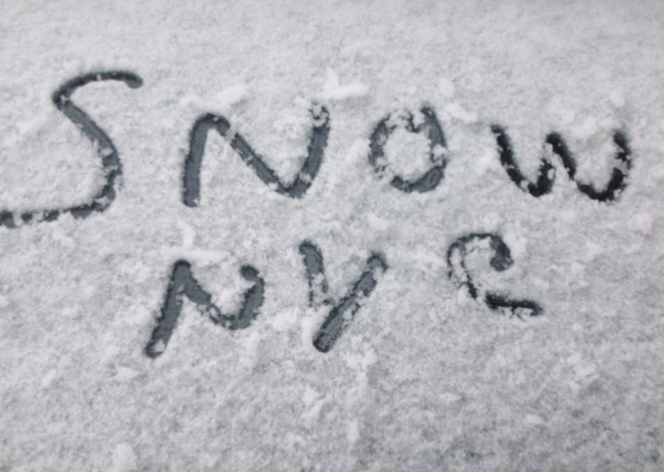 """""""Yes, it's snowing in NYC right now"""""""