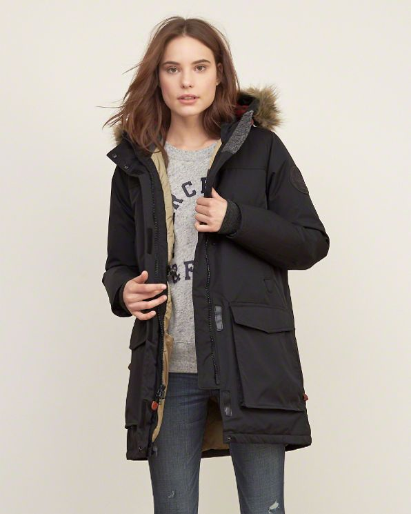 Womens Woolrich With A&F Patrol Down Long Parka | jackets ...