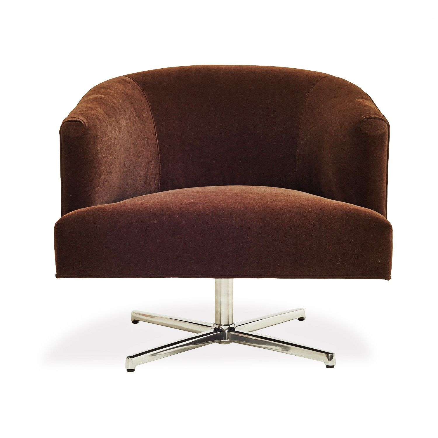 Cobble Hill Fremont Chocolate Swivel Chair