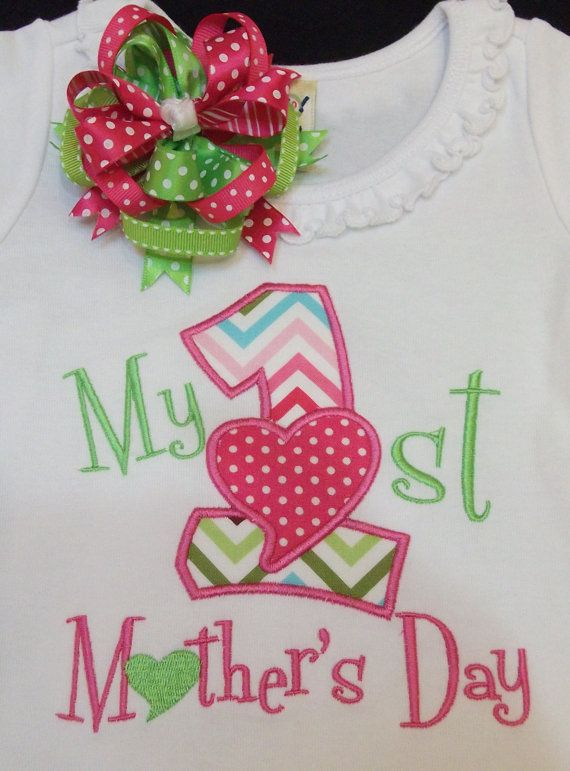 MY 1st Mother's day shirt or one-picese by Birthdayshirtsanmore