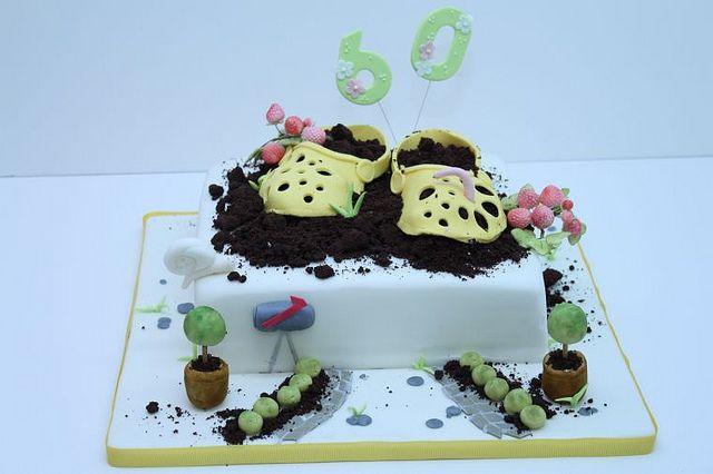 Geburtstagstorte 60 Geburtstag Garten Cake Design Food Desserts