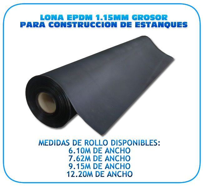 L mina epdm para la construcci n de estanques 7 62m ancho for Construccion de estanques para tilapia