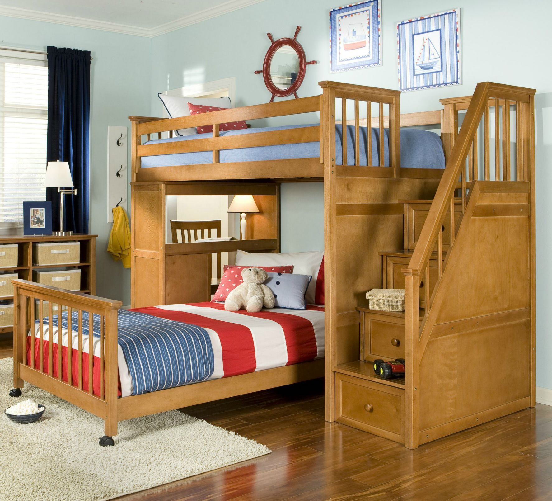 21 top wooden l-shaped bunk beds (with space-saving features