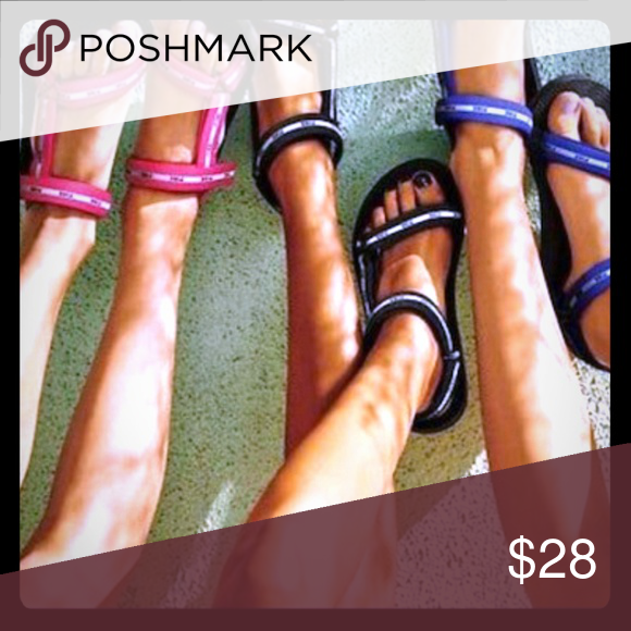 a490370883a05 Victoria Secret NWT beach sandal Medium (blue) As shown in pics you get  this NWT vs beach sandals color blue size 7 8 PINK Victoria s Secret Shoes  Sandals
