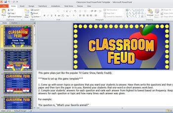 Classroom Feud Powerpoint Template  Plays Like Family Feud