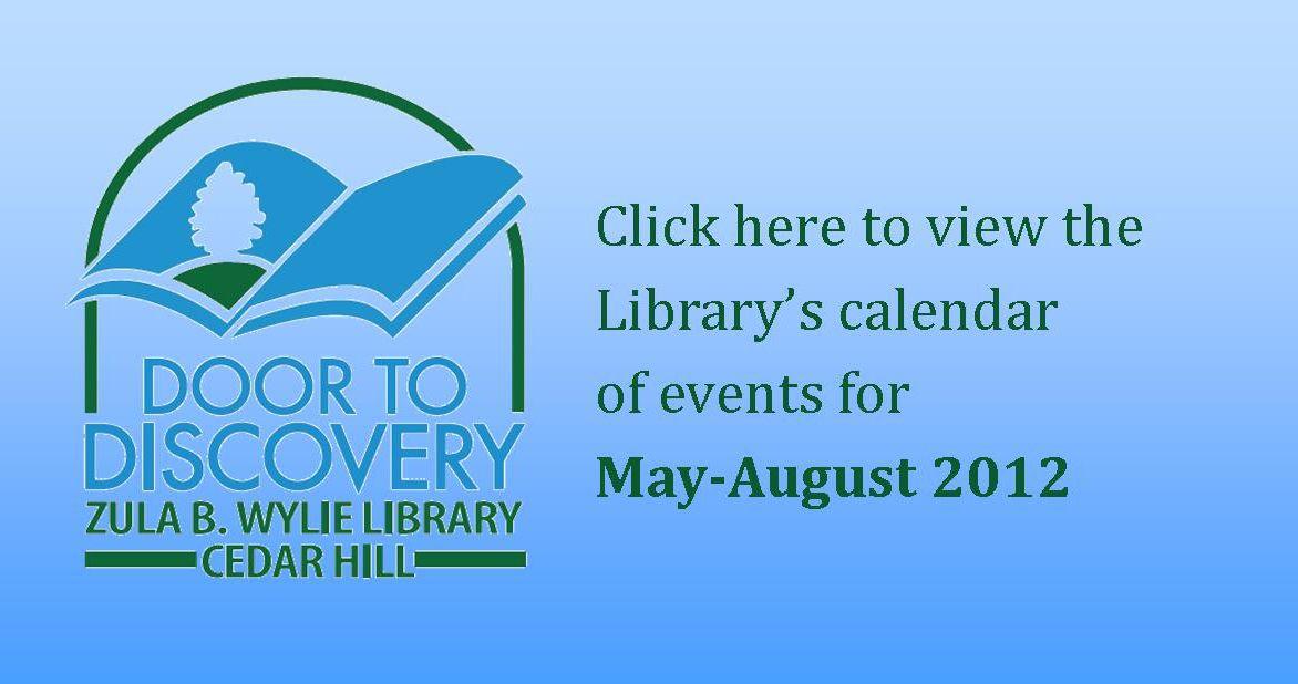 Click Here To View The Calendar Www Cedarhilllibrary Com Summer Program Library Retail Logos