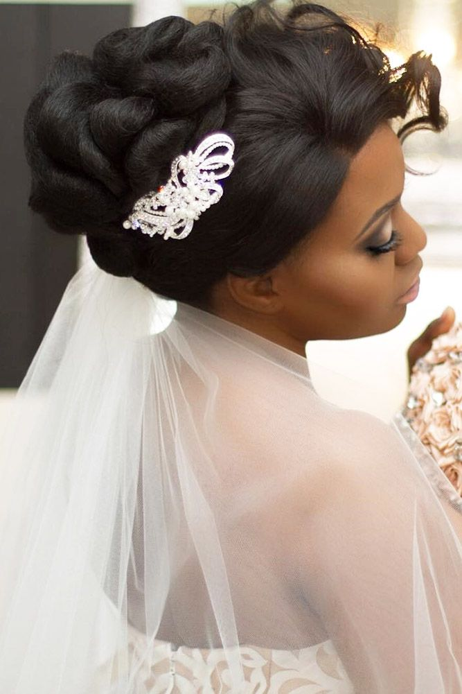 42 Black Women Wedding Hairstyles That Full Of Style Wedding Forward Black Wedding Hairstyles Wedding Hairstyles For Long Hair Hair Styles