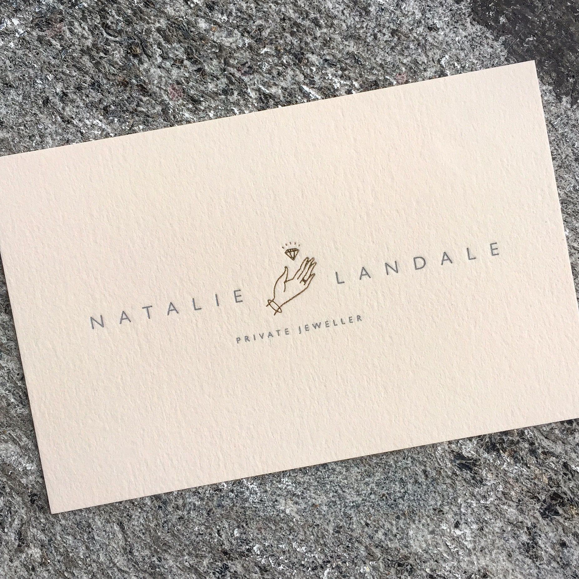 Two colour Foil blocking Business cards printed on Vellum White ...