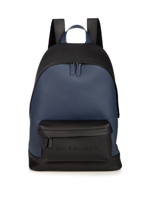 ad153055a91e BALENCIAGA Bi-Colour Leather Backpack.  balenciaga  bags  leather  lining   backpacks