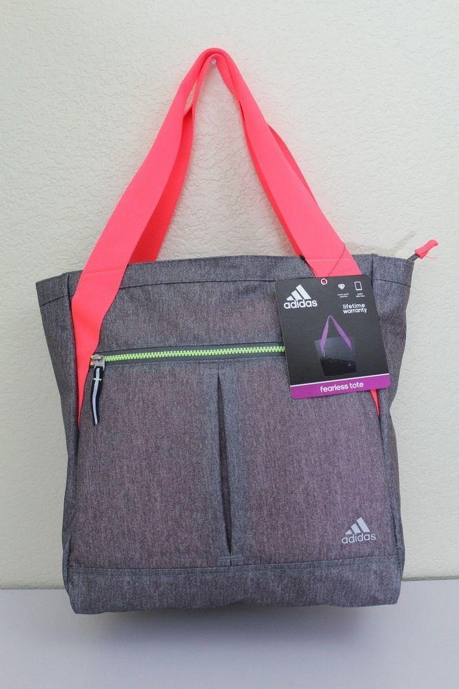 adidas fearless tote bag sport gym bag women 14.5