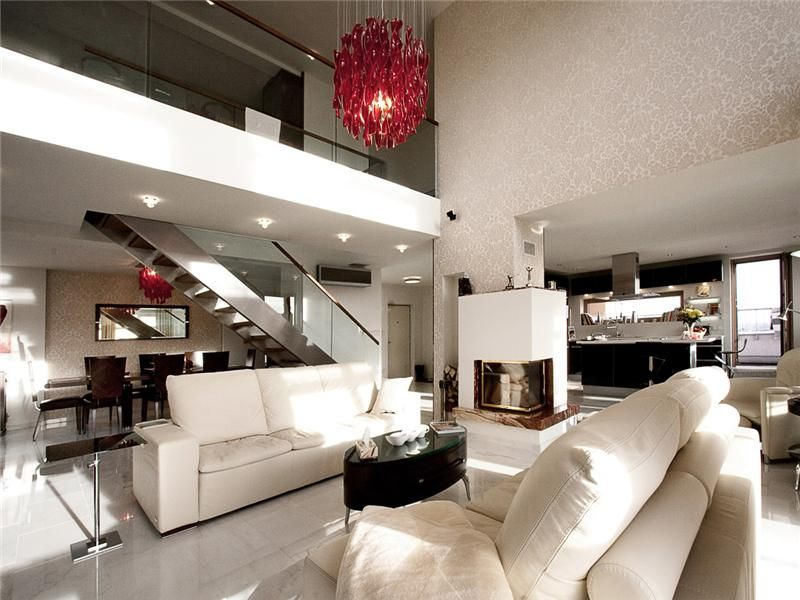 Mezzanine apartment luxury living room iluminacion - Foto mezzanine ...