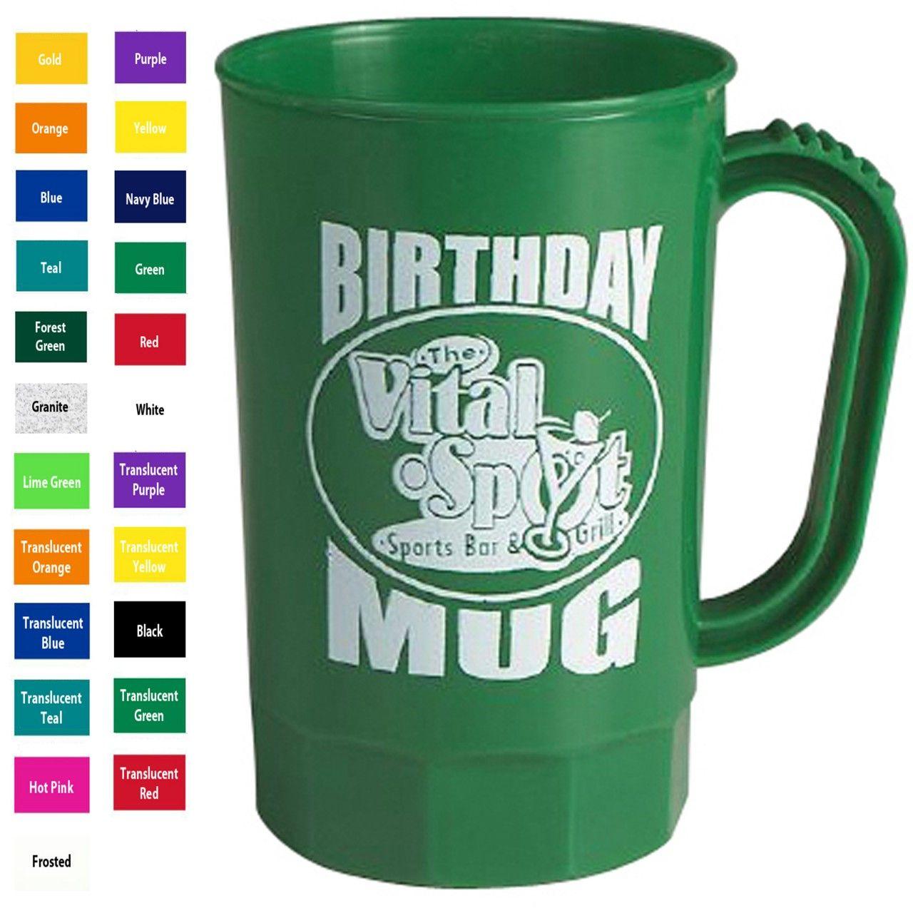 Custom plastic coffee mug with handle, Dustin (dustincy