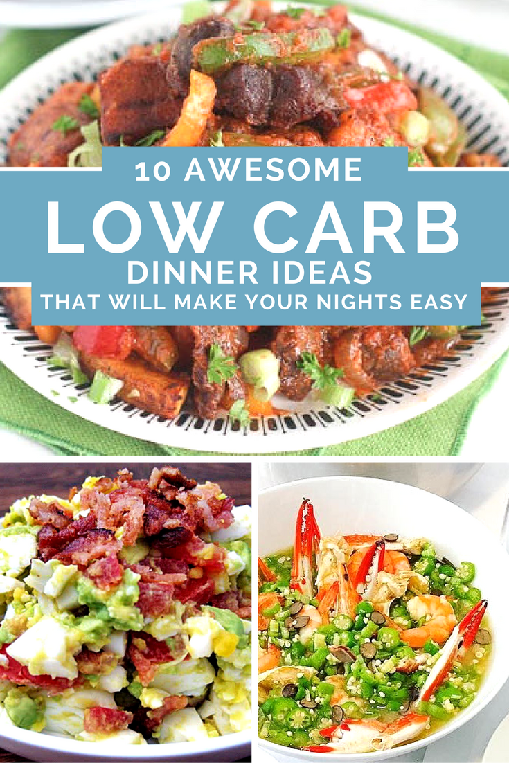 10 awesome low carb dinner ideas that will make your nights easy so amazing totally the best healthy dinners and so easy too recipes include salad soup and breakfast foods too forumfinder Gallery