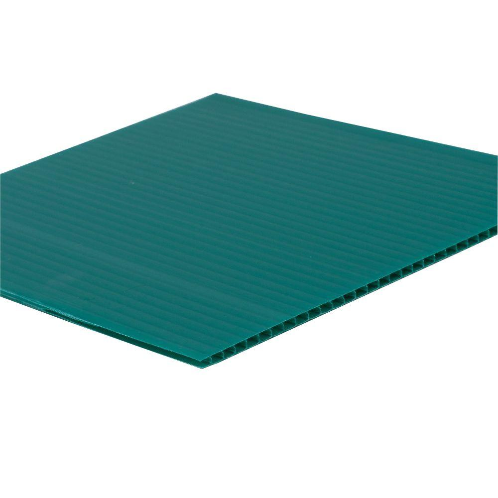 SABIC POLYMERSHAPES 48 in  x 96 in  x 0 157 in  Green Corrugated