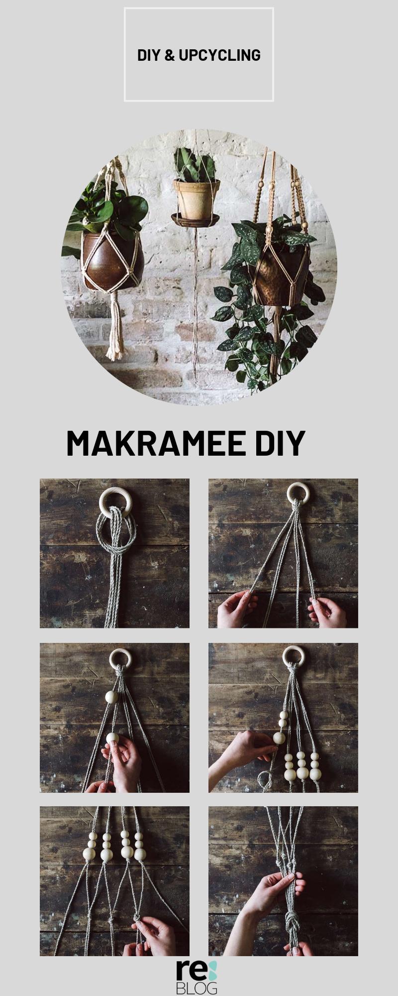 Photo of Macrame DIY: Machen Sie selbst einen hängenden Korb