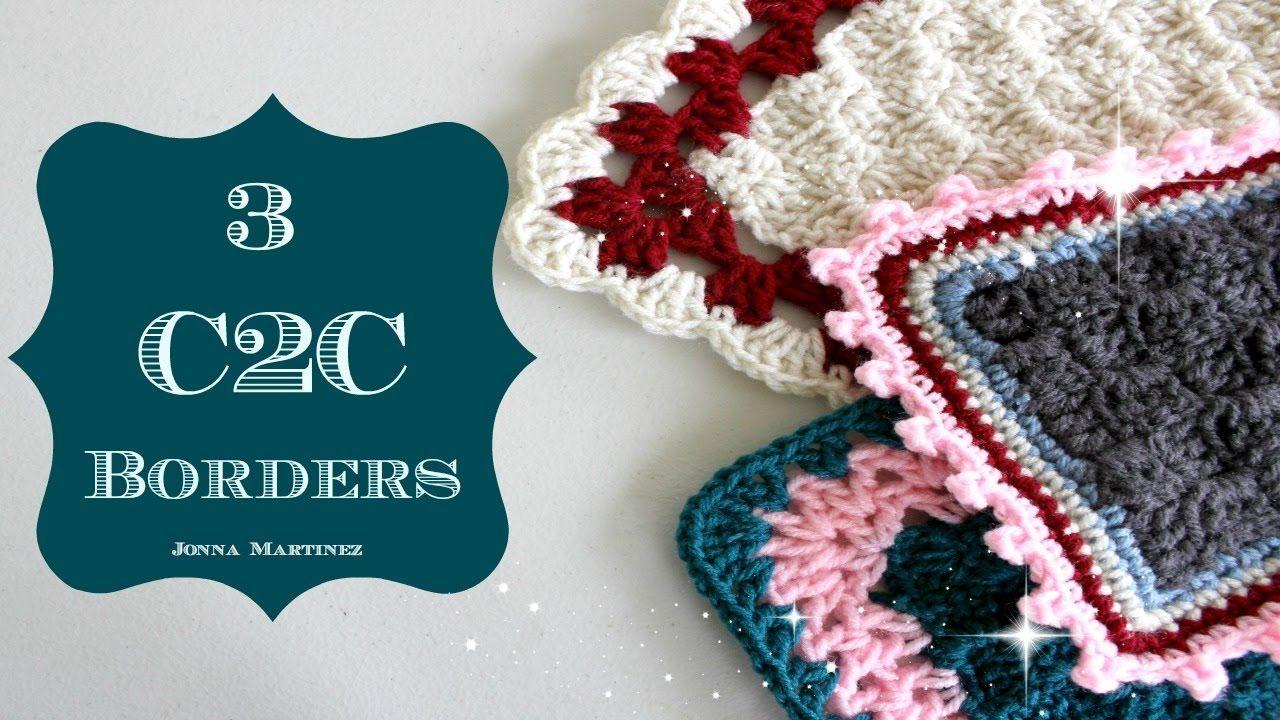 C2C Border 3 Ways | Crochet | Pinterest