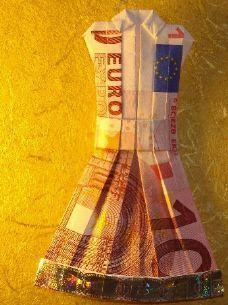 Kleid Aus Geldschein Falten Geldgeschenke Money Origami Folding