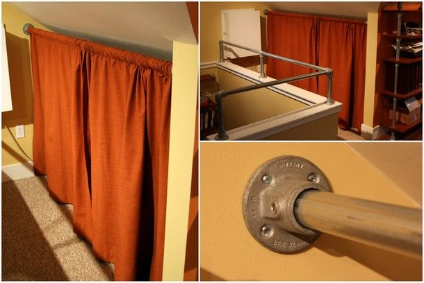 pin on pipe curtain rods