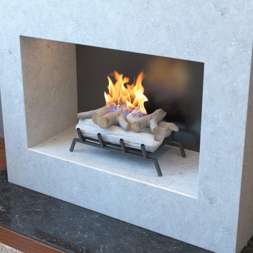 18 Inch Birch Convert To Ethanol Fireplace Log Set With Burner