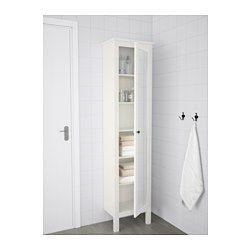 Nykomna HEMNES Högskåp med spegeldörr - vit | Badrum | Hemnes, Ikea och XY-93