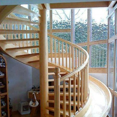 Spiral Staircase With Slide Dream House Staircase Slide House