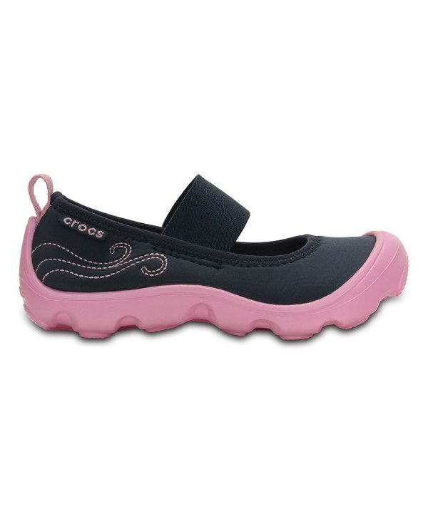 Look at this Crocs Navy & Pink Duet Busy Day Mary Jane - Toddler & Girls on #zulily today!