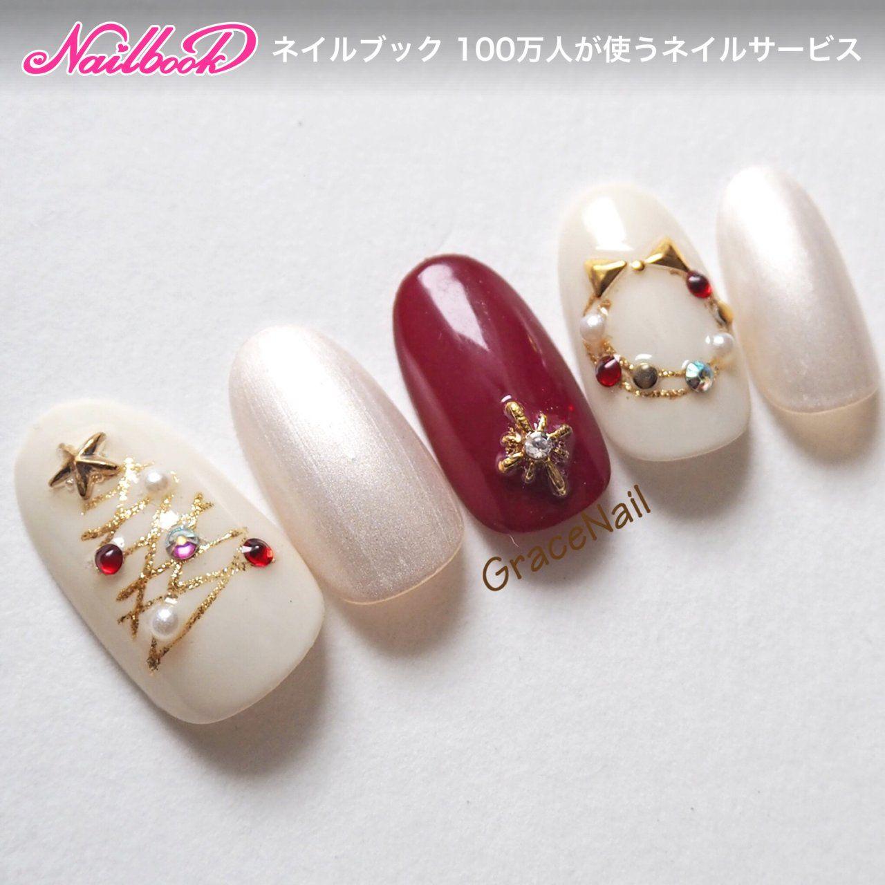 冬/クリスマス/デート/女子会/ハンド , GraceNailのネイル
