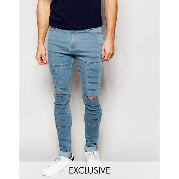 Reclaimed Vintage Super Skinny Jeans With Super Rips ($39 ...