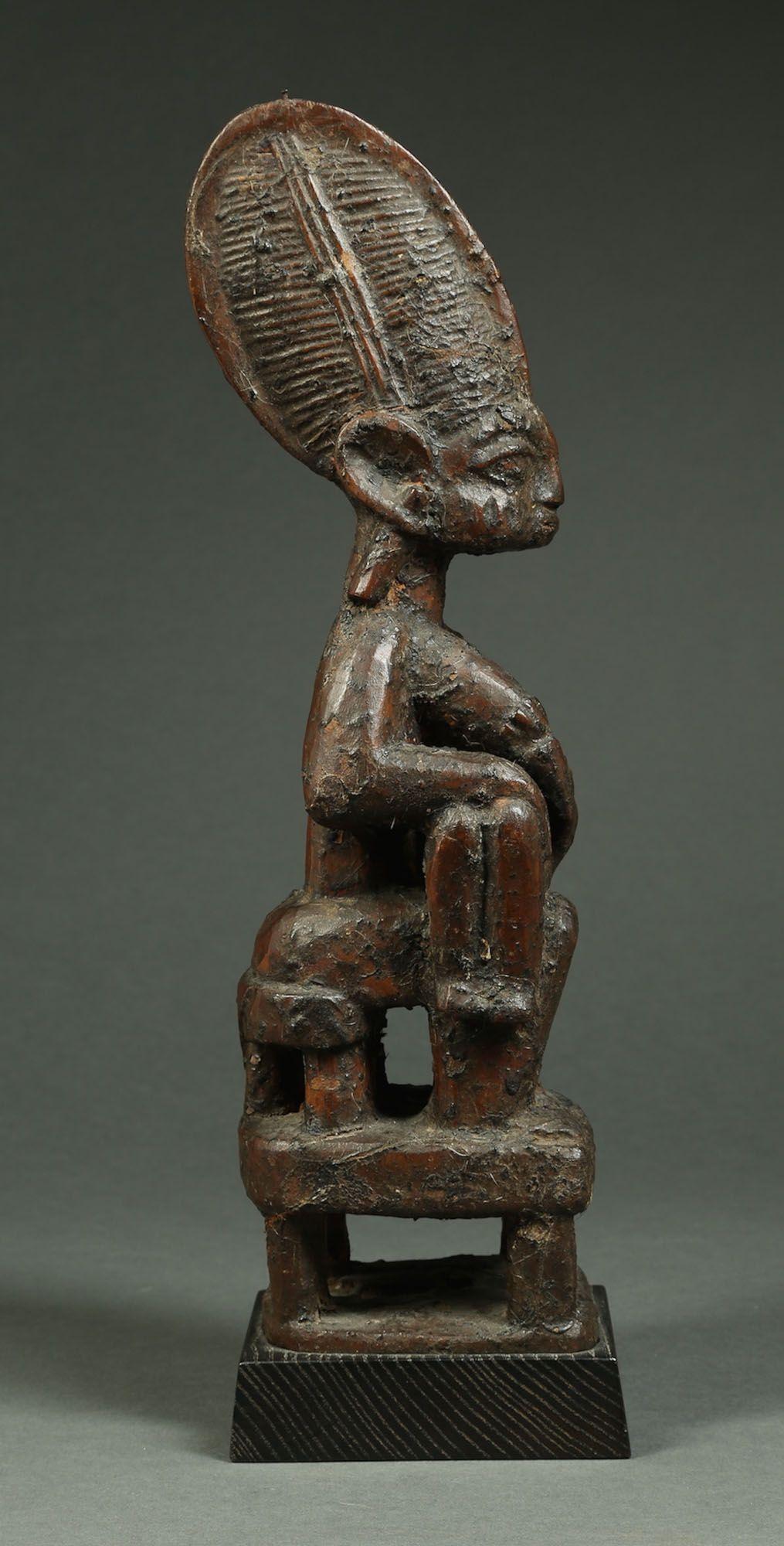 Image of Published Yoruba Maternity Figure with Thick Shrine Patina