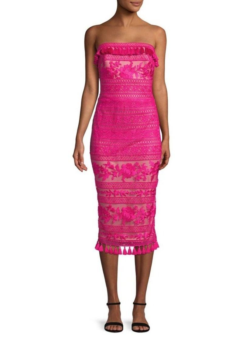 25cd5ae354675 Shoji Floral Strapless Midi Dress | Gowns | Strapless midi dress ...