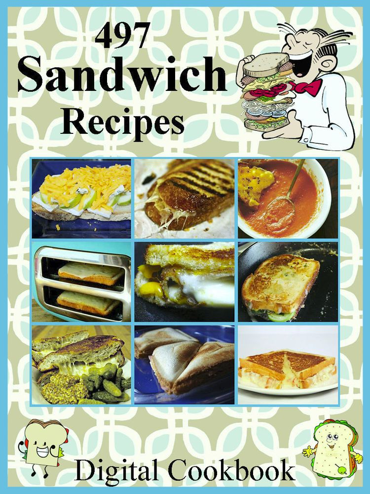 Details about 497 Delicious Sandwich Recipes E-Book Cookbook CD-ROM images