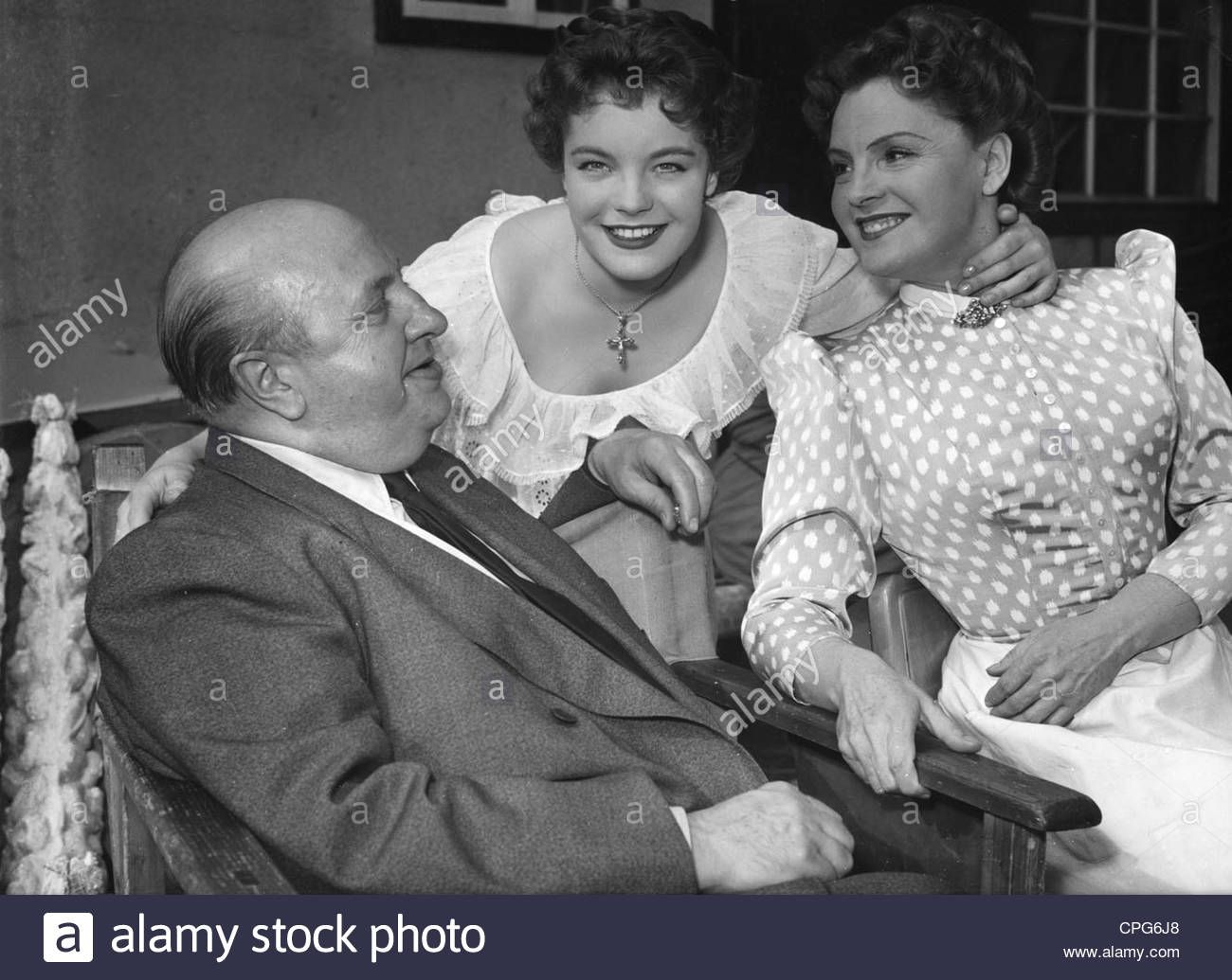Download this stock image: Marischka, Ernst, 2.1.1893 - 12.5.1963, Austrian director, half length, with Romy and Magda Schneider, during making of: A Marc - CPG6J8 from Alamy's library of millions of high resolution stock photos, illustrations and vectors.