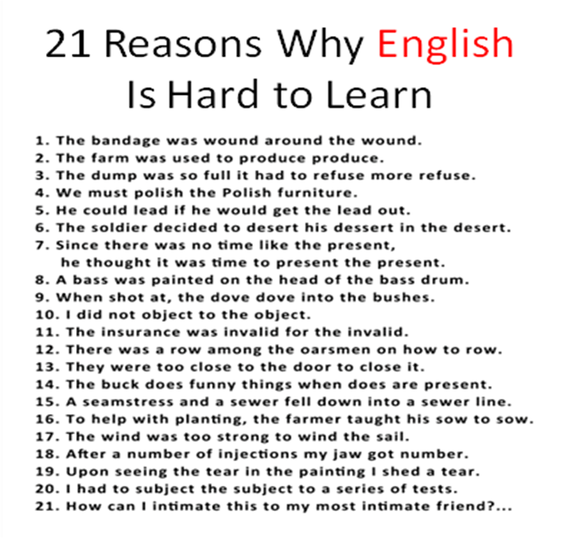 What do you find difficult about learning English ...