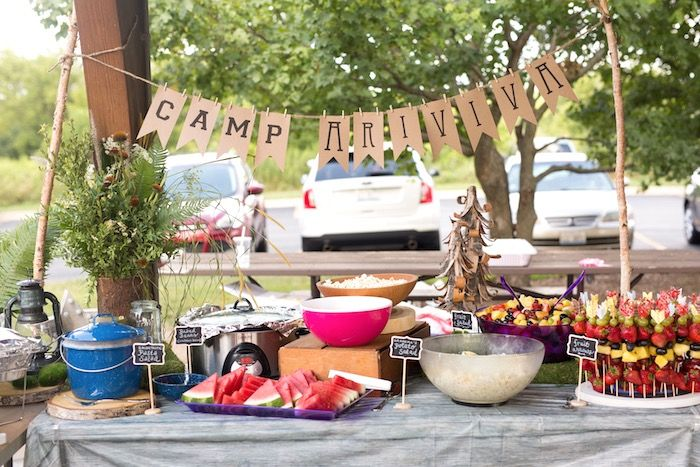 Summer Camp Camping Birthday Party Camping Party Decorations