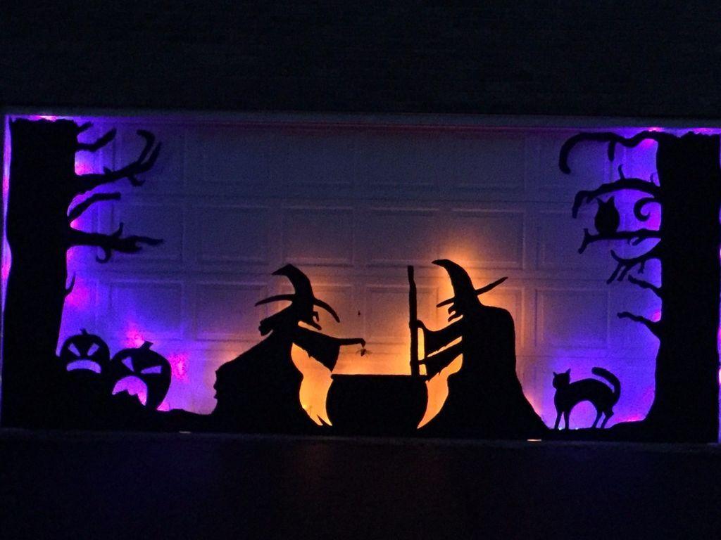 Diy halloween garage door decorations - Halloween Garage Door Silhouette