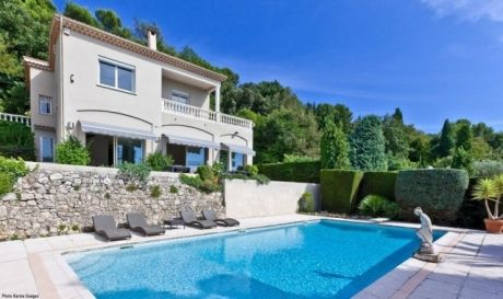 pool @ Bay view villa in Cannes, Cote d'Azur, France.
