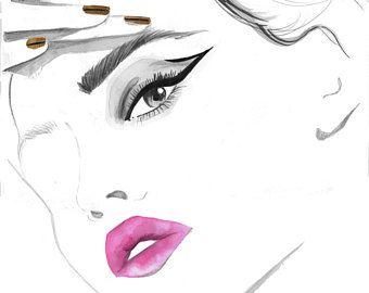 Tease Me Imprime A Partir D Une Peinture Originale A L Aquarelle
