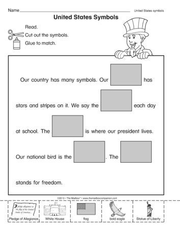 A Social Studies Worksheet That Addresses United States Symbols A Freebie From The Kindergarten Social Studies Social Studies Worksheets United States Symbols