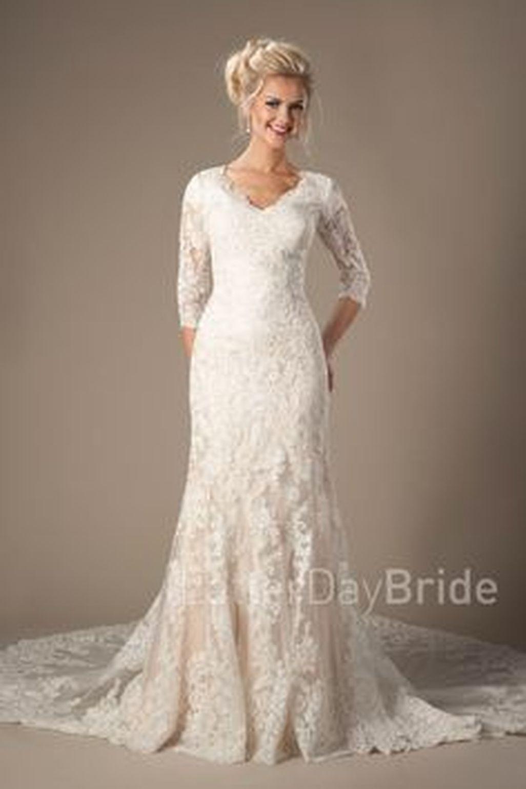 Nice 49 Stunning Ivory Long Sleeve Mermaid Lace Wedding Dress Ideas ...