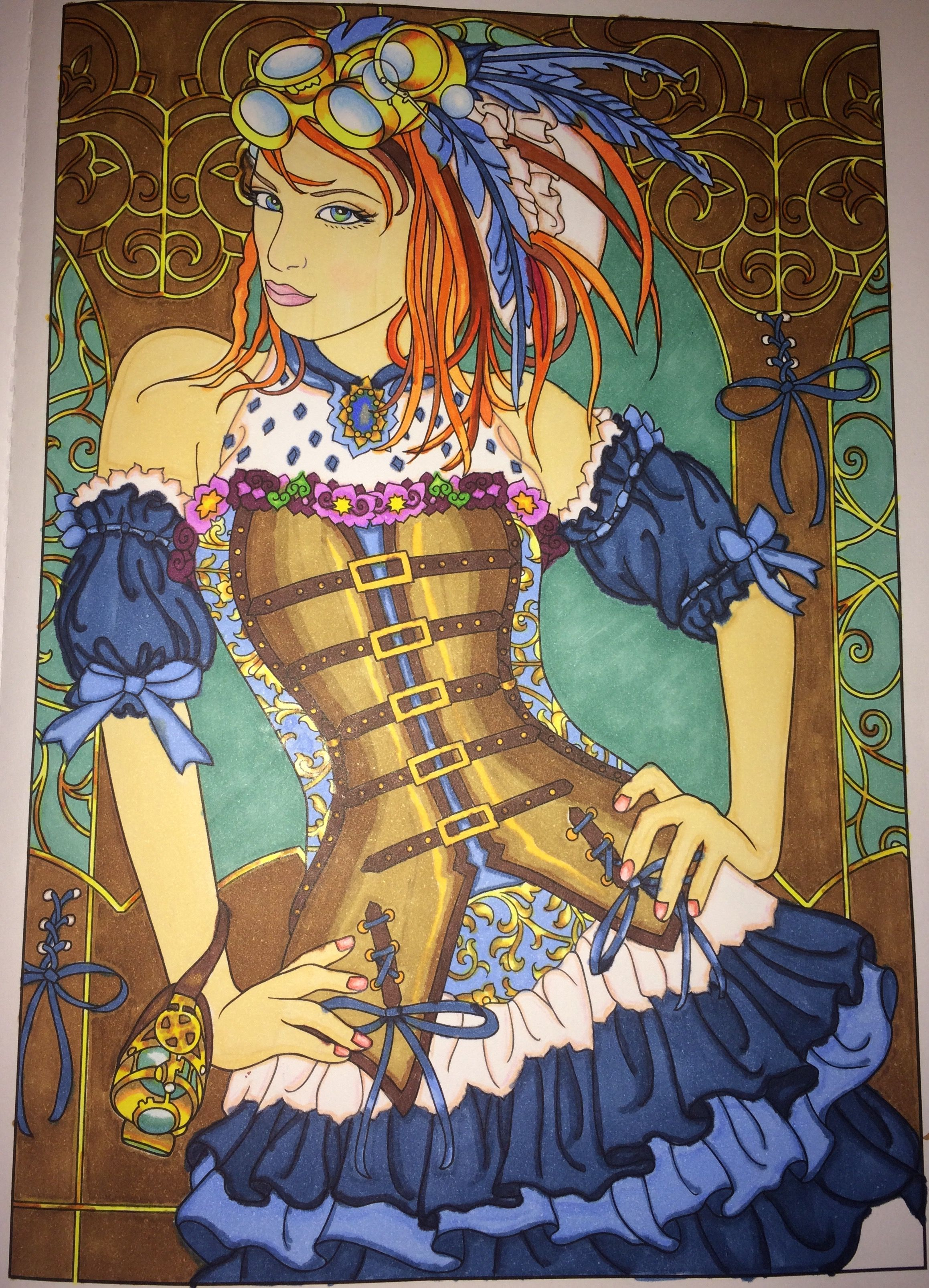 Page 31 finished colored Creative Haven Steampunk Fashions ...