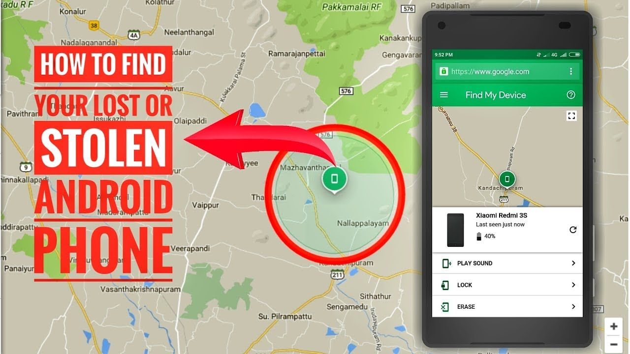 How To Find a Lost Or Stolen Phone Using Android Device