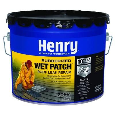 Henry 3 30 Gal 208r Rubberized Wet Patch Roof Leak Repair He208r361 With Images Leaking Roof Roof Leak Repair Roof Patch