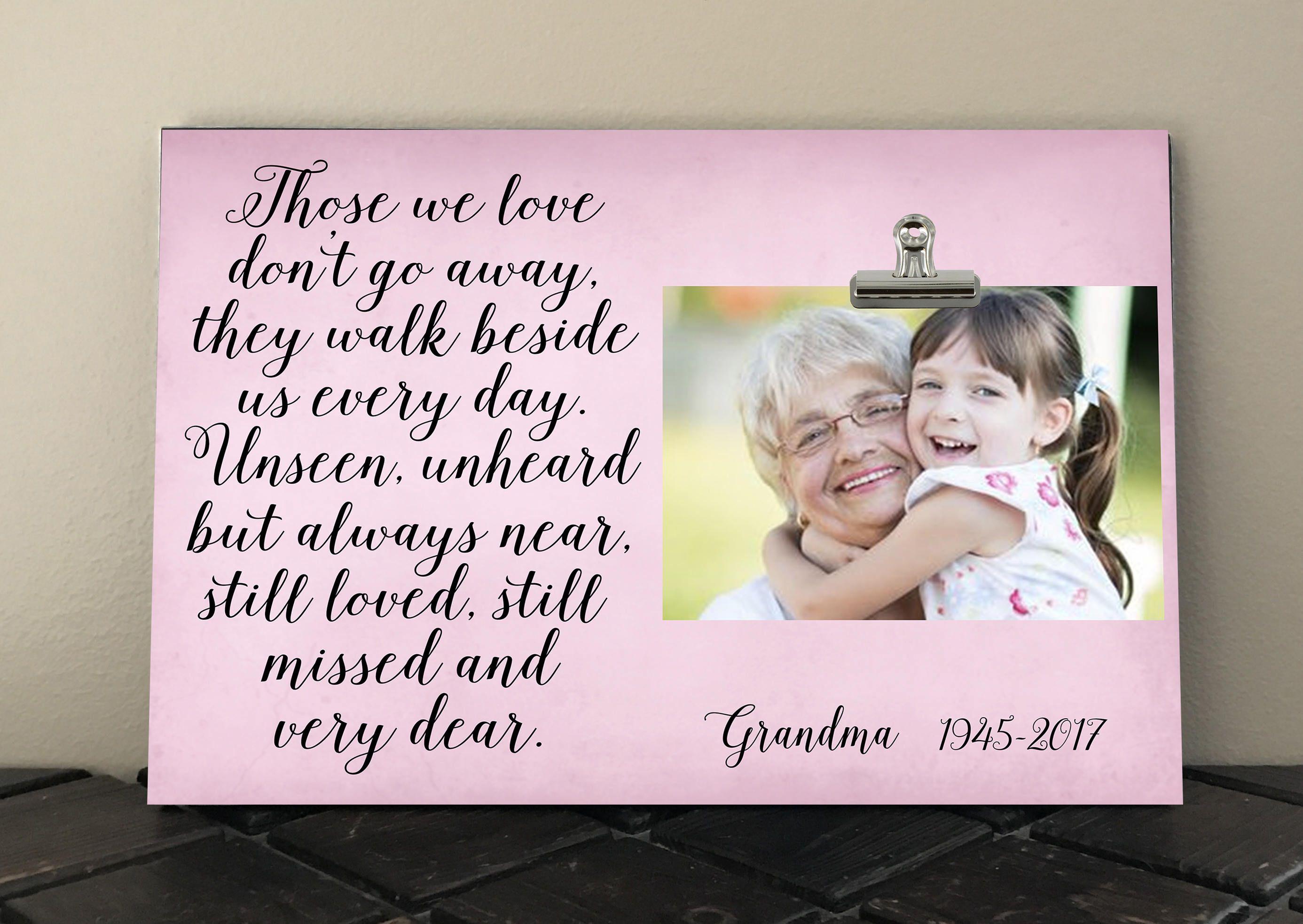 BEREAVEMENT Gift, In Loving MEMORY Frame, Free Design Proof, Those ...