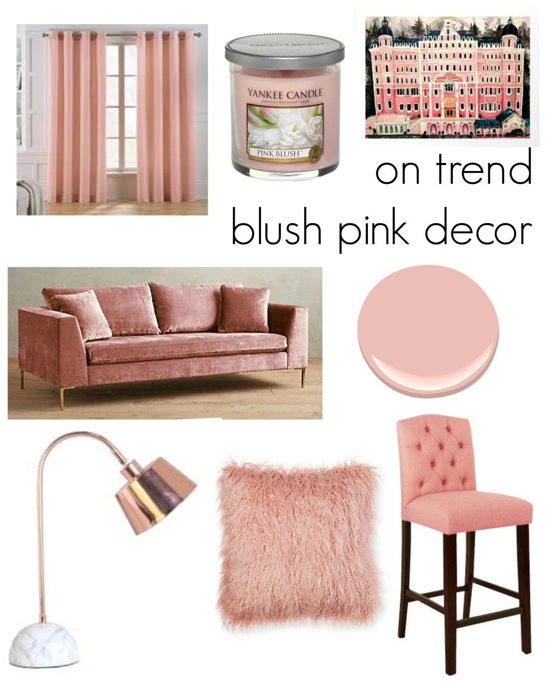 Blush Pink Decor Trend Via Remixed