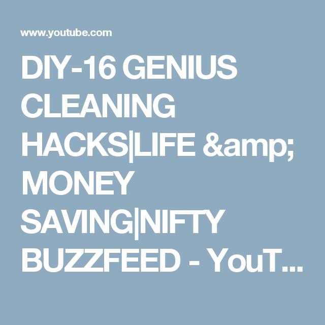 DIY-16 GENIUS CLEANING HACKS|LIFE & MONEY SAVING|NIFTY ...