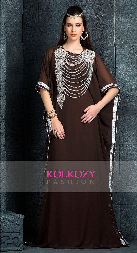 Code produit : KKPF1081 Couleur : brun Broderie : Main de paillettes, dentelles, travail, autres  Toutes les perles sont cousue sur la main. Est